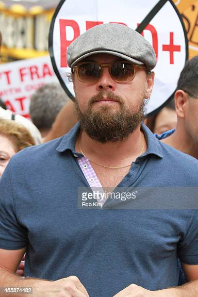 Leonardo DiCaprio attends The People's Climate March on September 21 2014 in New York City