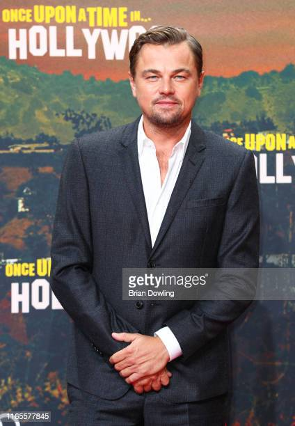 Leonardo DiCaprio attends the premiere of Once Upon A Time In Hollywood at CineStar on August 01 2019 in Berlin Germany