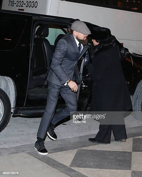 Leonardo DiCaprio attends the Saturday Night Live 40th Anniversary Celebration After Party at The Plaza Hotel on February 15 2015 in New York City