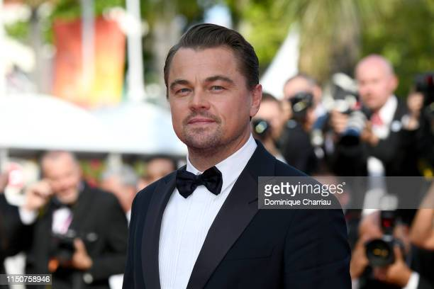 Leonardo DiCaprio attends the screening of Once Upon A Time In Hollywood during the 72nd annual Cannes Film Festival on May 21 2019 in Cannes France