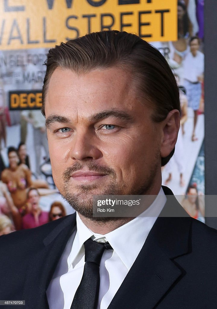 Leonardo DiCaprio attends the 'The Wolf Of Wall Street' premiere at Ziegfeld Theater on December 17, 2013 in New York City.