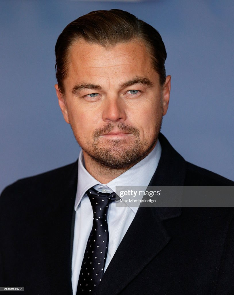 Leonardo DiCaprio attends the UK Premiere of 'The Revenant' at the Empire Leicester Square on January 14, 2016 in London, England.
