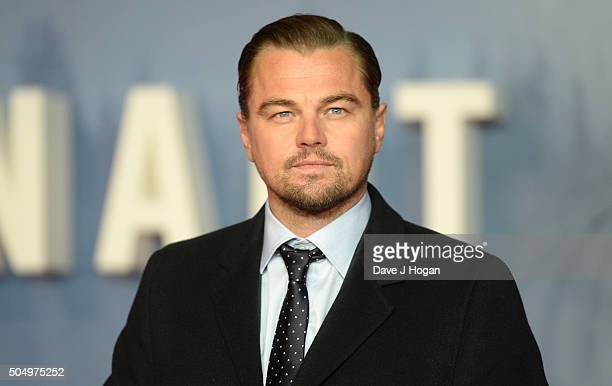 Leonardo DiCaprio attends UK Premiere of 'The Revenant' at Empire Leicester Square on January 14 2016 in London England
