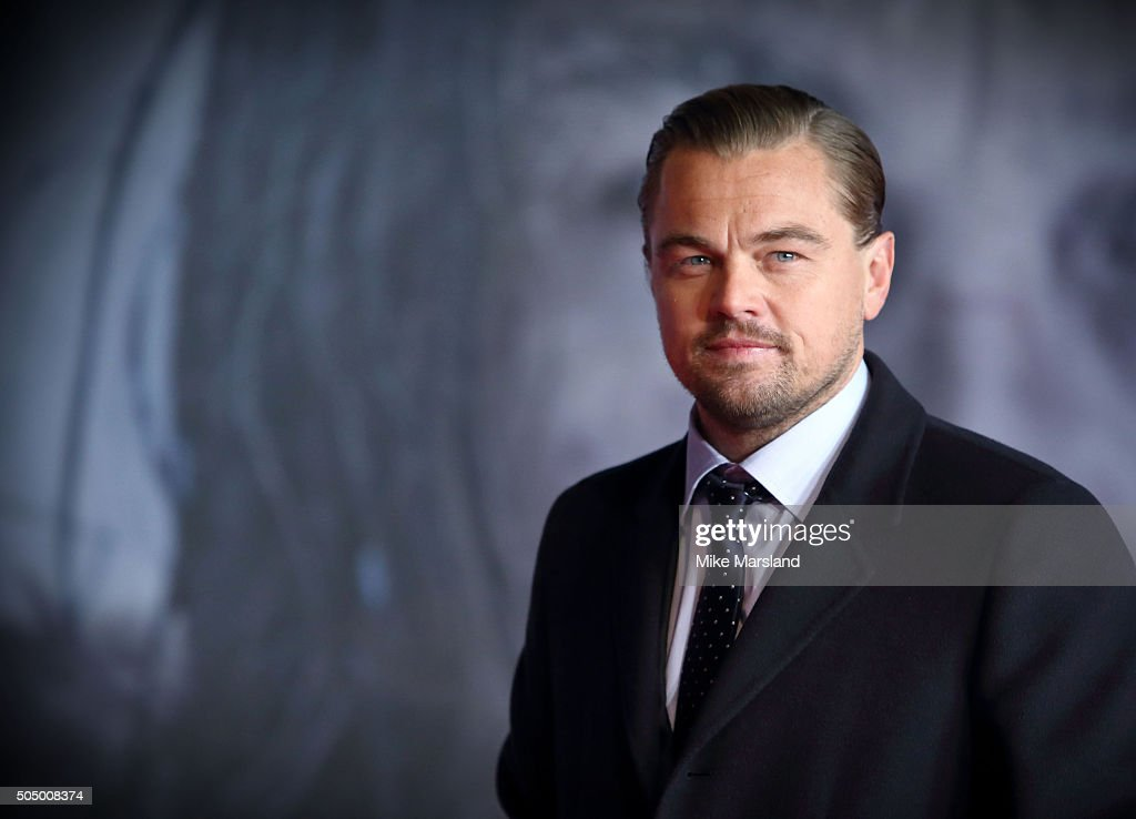 Leonardo DiCaprio, attends UK Premiere of 'The Revenant' at Empire Leicester Square on January 14, 2016 in London, England.