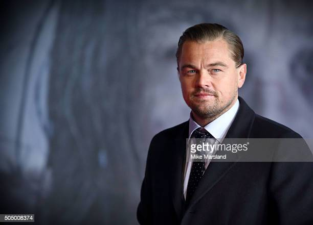Leonardo DiCaprio attends UK Premiere of The Revenant at Empire Leicester Square on January 14 2016 in London England