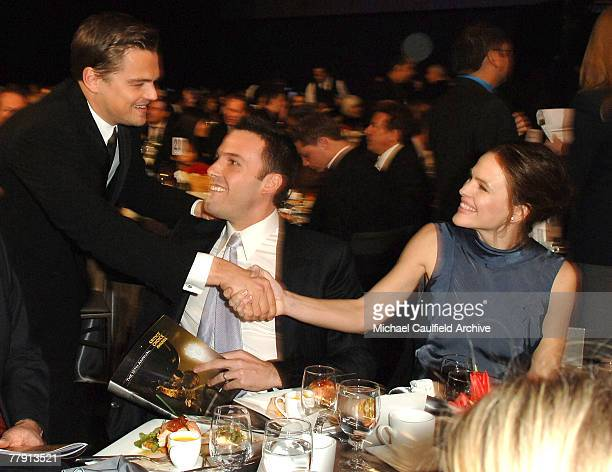 Leonardo DiCaprio Ben Affleck and Jennifer Garner