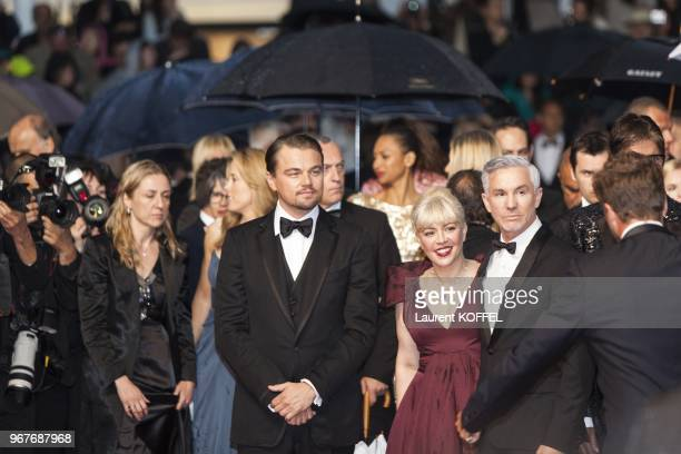 Leonardo DiCaprio Catherine Martin and Baz Luhrmann attend the Opening Ceremony and 'The Great Gatsby' Premiere during the 66th Annual Cannes Film...