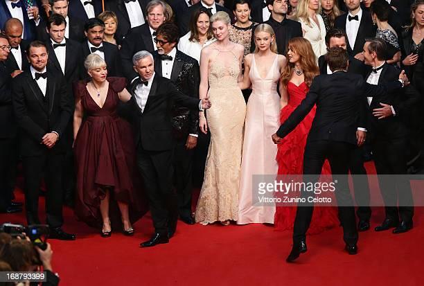 Leonardo DiCaprio Catherine Martin Baz Luhrmann Amitabh Bachchan Elizabeth Debicki Carey Mulligan Isla Fisher Joel Edgerton and Craig Pearce attend...