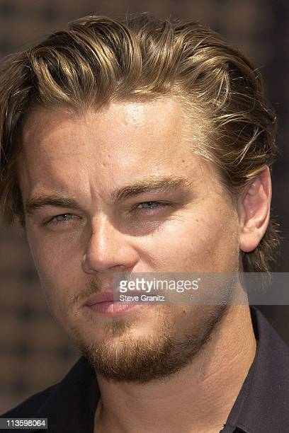 Leonardo DiCaprio during Global Green USA Releases Climate Change Report Calls on President Bush to Attend Upcoming Earth Summit In South Africa at...