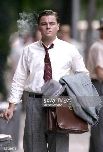 Leonardo DiCaprio during Leonardo DiCaprio On Set of 'Revolutionary Road' May 30 2007 at Streets of Manhattan in New York City New York United States