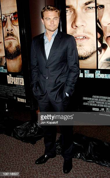 """Leonardo DiCaprio during """"The Departed"""" Los Angeles Screening at The Director's Guild of America in West Hollywood, California, United States."""