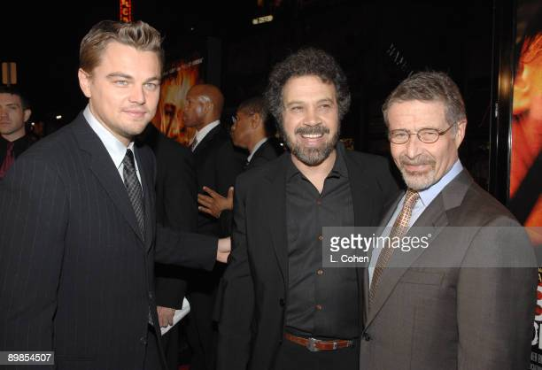 Leonardo DiCaprio Edward Zwick director and Barry Meyers Chairman of Warner Bros