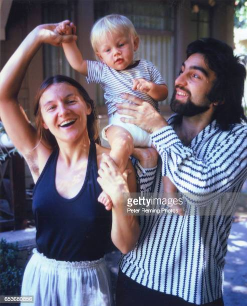Leonardo DiCaprio his father George DiCaprio and his mother Irmelin DiCaprio pose for a portrait outside their home in Hollywood California circa 1976