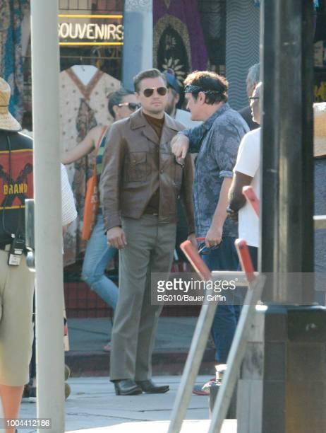 Leonardo Dicaprio is seen on July 23 2018 in Los Angeles California