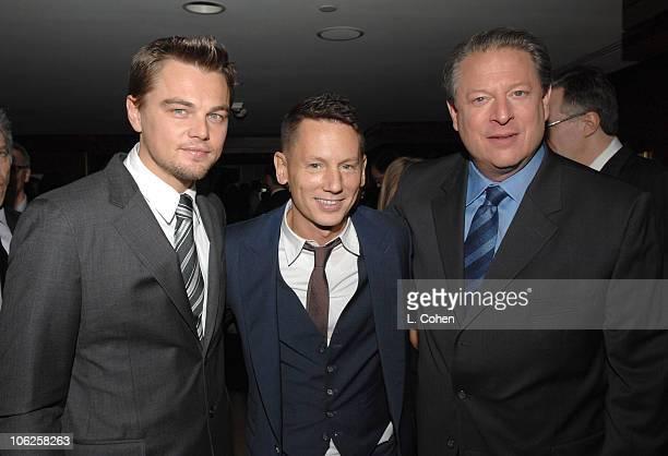 Leonardo DiCaprio Jim Nelson EditorinChief GQ and Al Gore