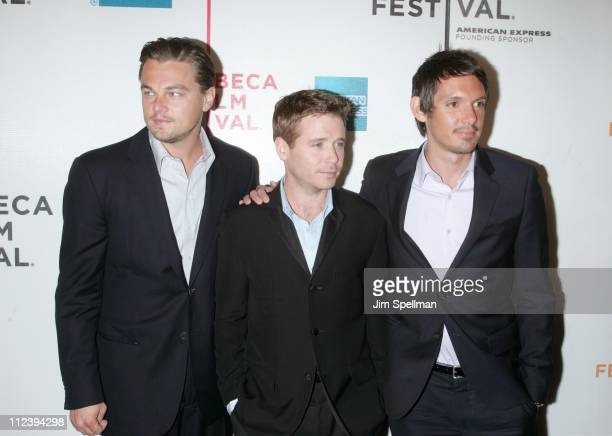 """Leonardo DiCaprio Kevin Connolly and Lukas Haas during 6th Annual Tribeca Film Festival - """"Gardener of Eden"""" - Outside Arrivals at Tribeca Performing..."""