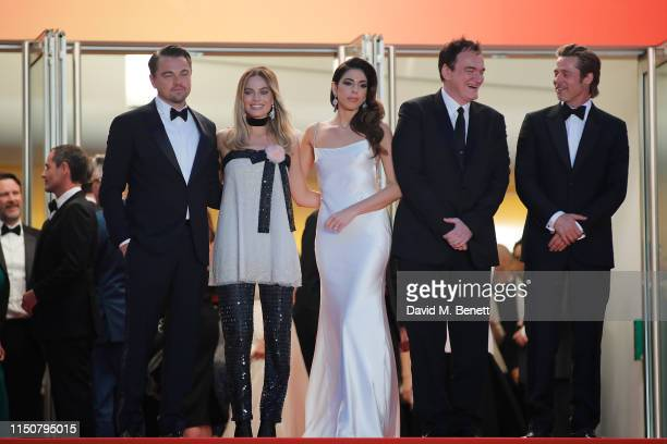 Leonardo DiCaprio Margot Robbie Daniela Tarantino Quentin Tarantino and Brad Pitt attend the screening of Once Upon A Time In Hollywood during the...
