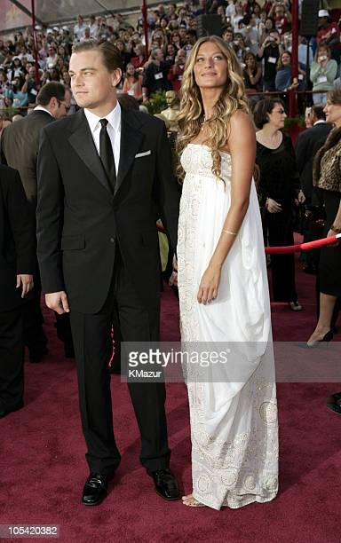 "Leonardo DiCaprio, nominee Best Actor in a Leading Role for ""The Aviator"", and Gisele Bundchen"