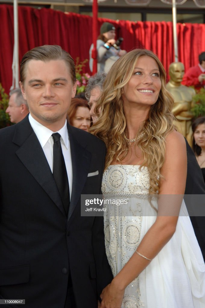 """Leonardo DiCaprio, nominee Best Actor in a Leading Role for """"The Aviator"""" and Gisele Bundchen"""