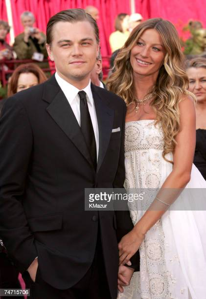 Leonardo DiCaprio nominee Best Actor in a Leading Role for The Aviator and Gisele Bundchen at the Kodak Theatre in Hollywood California