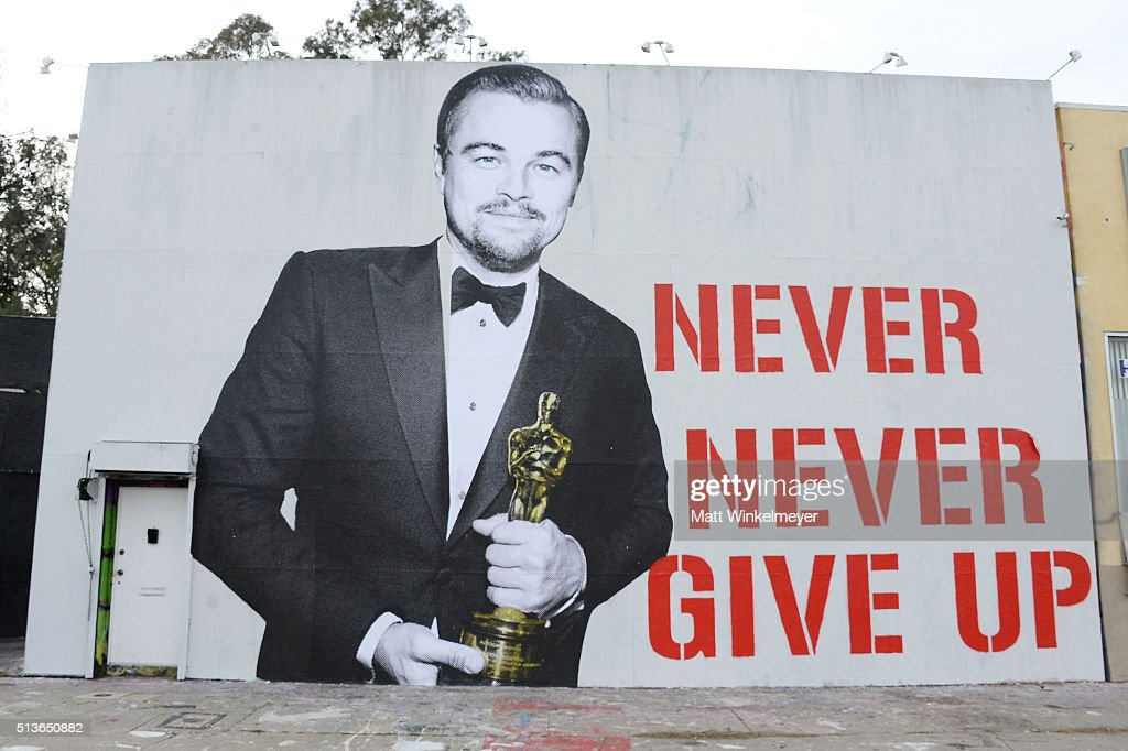 Leonardo DiCaprio Oscar Street Art Mural : News Photo