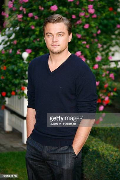 Leonardo DiCaprio pictured at the Body of Lies Paris photocall on november 3 2008 in Paris France