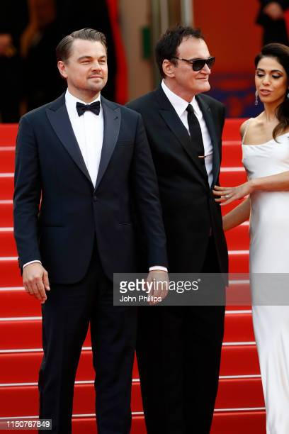 Leonardo DiCaprio Quentin Tarantino and Daniela Pick attend the screening of Once Upon A Time In Hollywood during the 72nd annual Cannes Film...