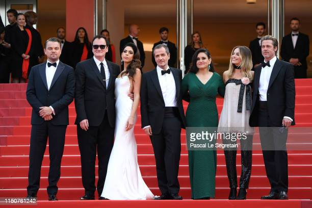 "Leonardo DiCaprio, Quentin Tarantino, Daniela Tarantino, David Heyman, Shannon McIntosh, Margot Robbie, Brad Pitt attend the screening of ""Once Upon..."