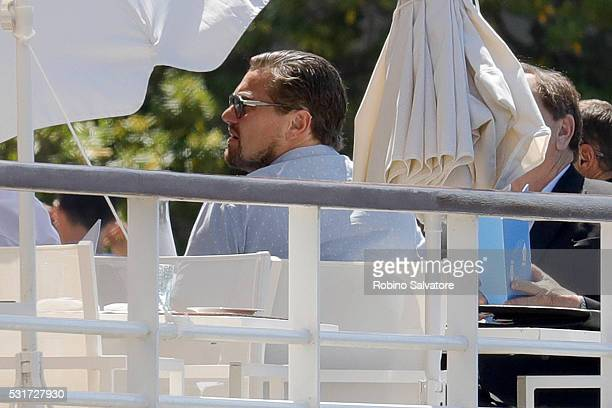 Leonardo DiCaprio seen during the annual 69th Cannes Film Festival at H��tel du CapEdenRoc on May 16 2016 in Cannes France
