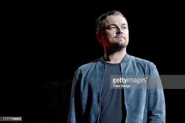 Leonardo DiCaprio speaks onstage during the 2019 Global Citizen Festival Power The Movement in Central Park on September 28 2019 in New York City