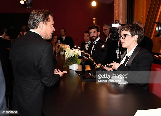 Leonardo DiCaprio winner of Best Actor for 'The Revenant' attends the 88th Annual Academy Awards Governors Ball at Hollywood Highland Center on...