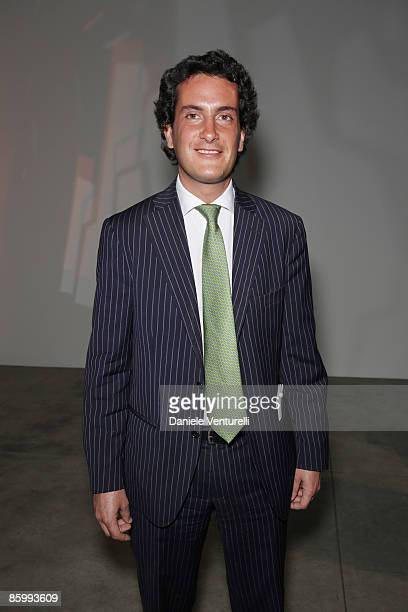 Leonardo Etro attends the Michal Helfman opening exhibition at the Cardi Black Box on April 15 2009 in Milan 2009