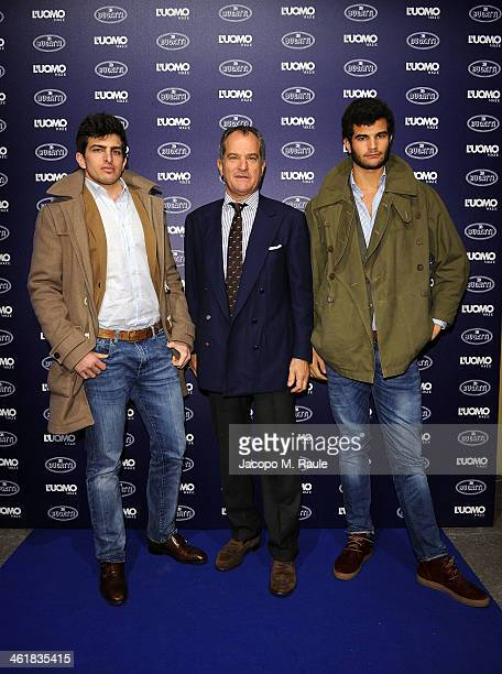 Leonardo Ferragamo and his sons attend the Bugatti and L'Uomo Vogue The magic of la vie en bleu Collection party as a part of Milan Fashion Week...
