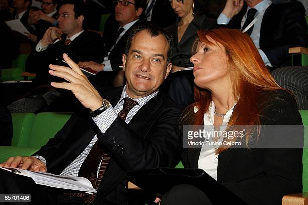 Leonardo Ferragamo and Michela Vittoria Brambilla attend 'Altagamma scenari 2009' press conference on March 30 2009 in Milan Italy Fondazione...