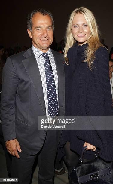 Leonardo Ferragamo and Poppy Delevingne attend the Salvatore Ferragamo show as part of Milan Womenswear Fashion Week Spring/Summer 2010 at on...
