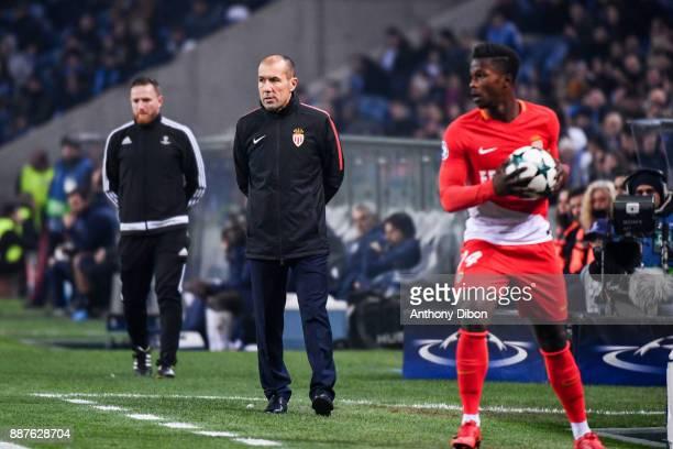 Leonardo Jardim coach of Monaco and Keita Balde of Monaco during the Uefa Champions League match between Fc Porto and As Monaco at Estadio do Dragao...