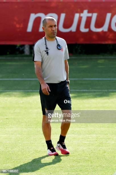Leonardo Jardim coach of Monaco during first training session of new season 2018/2019 on June 29 2018 in Monaco Monaco