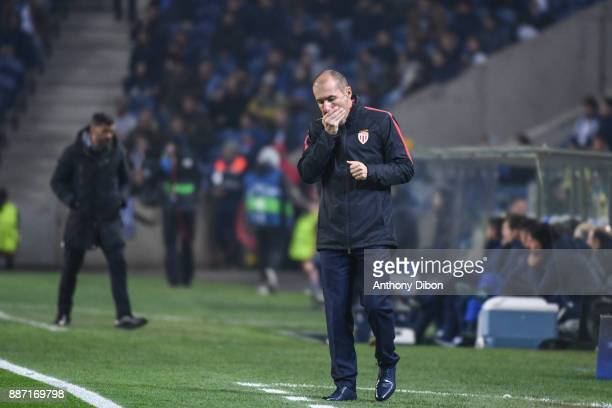 Leonardo Jardim coach of Monaco looks dejected during the Uefa Champions League match between Fc Porto and As Monaco at Estadio do Dragao on December...