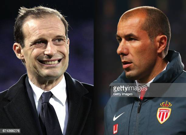 COMPOSITE OF TWO IMAGES Image numbers 631764068 and 470720084 In this composite image a comparision has been made between Massimiliano Allegri head...
