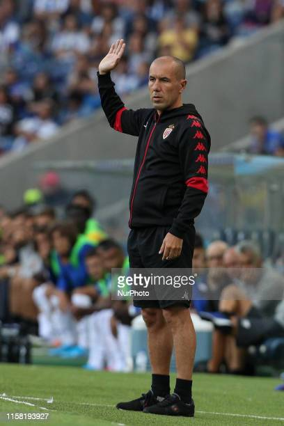 Leonardo Jardim head coach of AS Monaco FC in action during the presentation of the Porto FC players before the Pre-season friendly match between FC...