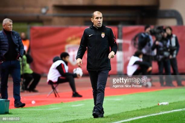 Leonardo Jardim head coach of Monaco during the french League Cup match Round of 16 between Monaco and Caen on December 12 2017 in Monaco Monaco
