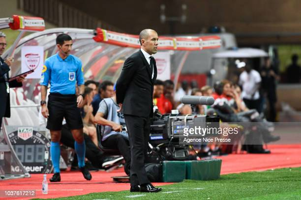Leonardo Jardim head coach of Monaco during the Ligue 1 match between AS Monaco and Nimes at Stade Louis II on September 21 2018 in Monaco Monaco