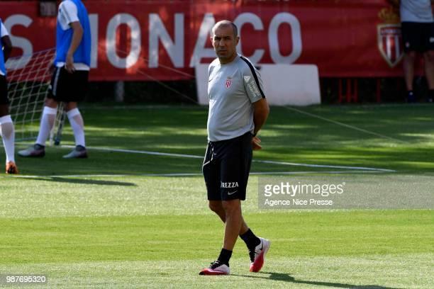 Leonardo Jardim head coach of Monaco during the pre season training session on June 29 2018 in Monaco Monaco