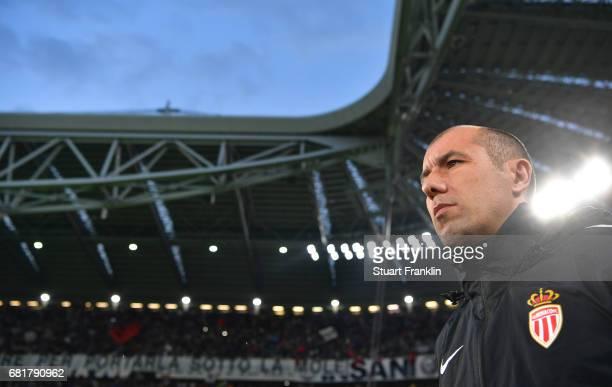 Leonardo Jardim, head coach of Monaco looks on during the UEFA Champions League Semi Final second leg match between Juventus and AS Monaco at...