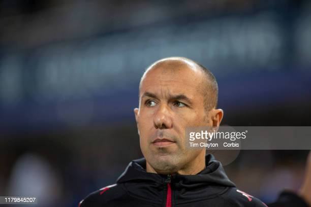 October 5: Leonardo Jardim, head coach of Monaco on the sideline during the Montpellier V Monaco, French Ligue 1 regular season match at Stade de la...