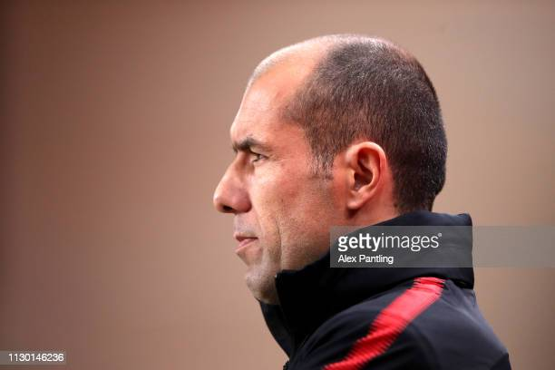 Leonardo Jardim Manager of Monaco during the Ligue 1 match between AS Monaco and FC Nantes at Stade Louis II on February 16, 2019 in Monaco, Monaco.