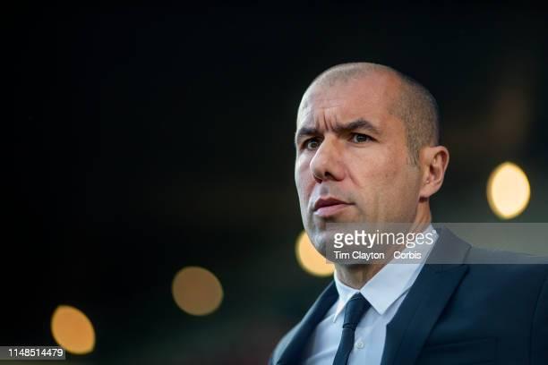May 11: Leonardo Jardim, Manager of Monaco on the sideline during the Nimes V Monaco, French Ligue 1, regular season match at Stade des Costières on...