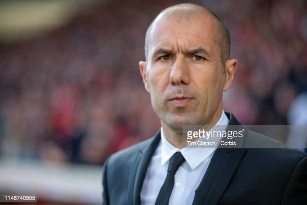 May 11: Leonardo Jardim, Manager of Monaco on the sideline during the Nimes V Monaco, French Ligue 1, regular season match at Stade des Costières on...
