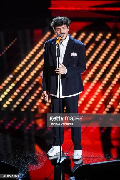 Leonardo Lamacchia attends the second night of the 67th Sanremo Festival 2017 at Teatro Ariston on February 8 2017 in Sanremo Italy