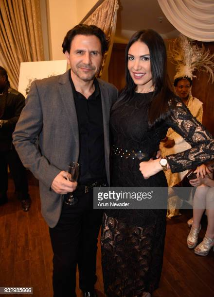Leonardo Leon and Mayela Mendoza attend Los Angeles Fashion Week Powered by Art Hearts Fashion LAFW FW/18 10th Season Anniversary Backstage and Front...